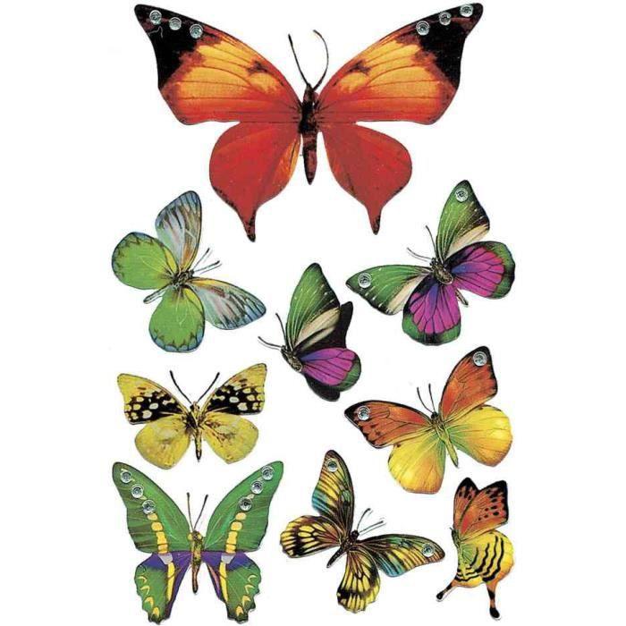 Autocollants Magic Quot Papillons Quot Jewel Planche De 9 Achat