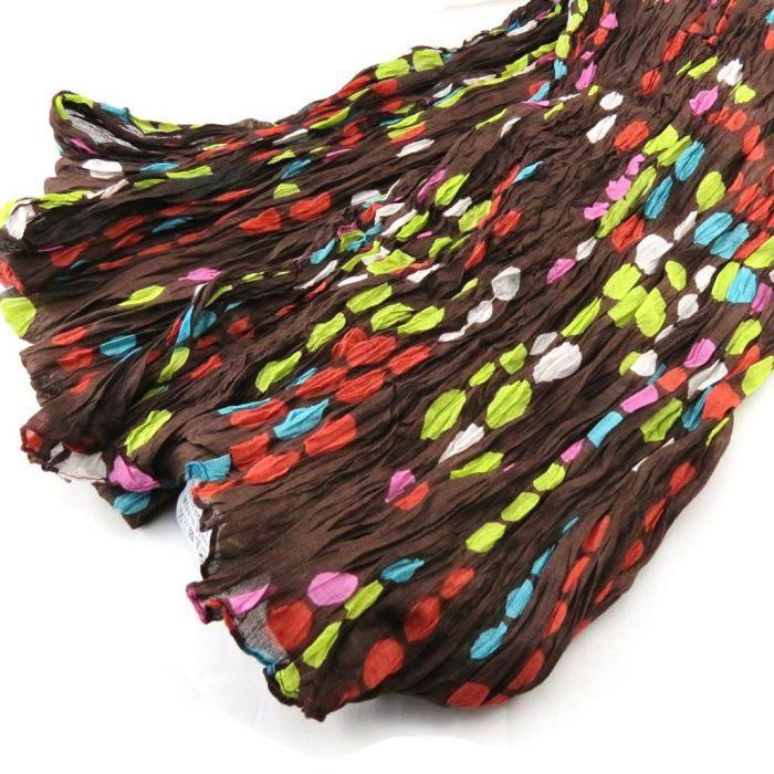 Echarpe coloriage marron multicolore marron achat - Coloriage marron ...