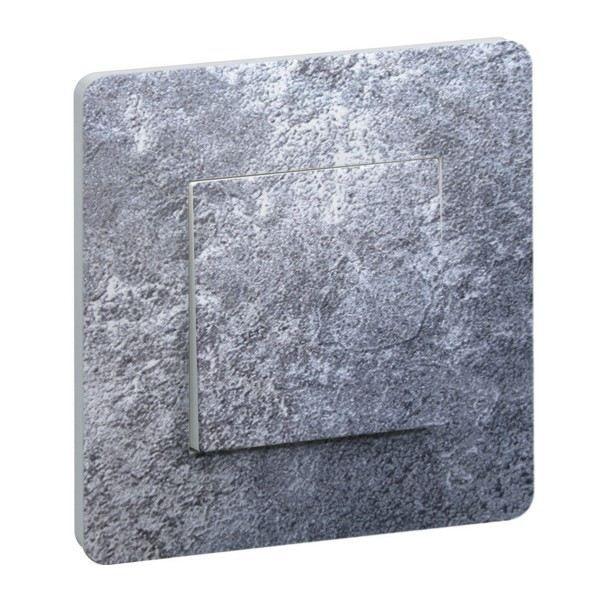 Interrupteur decore gris mineral achat vente for Interrupteur decore
