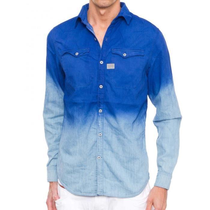 chemise g star cromart indigo av bleu achat vente. Black Bedroom Furniture Sets. Home Design Ideas