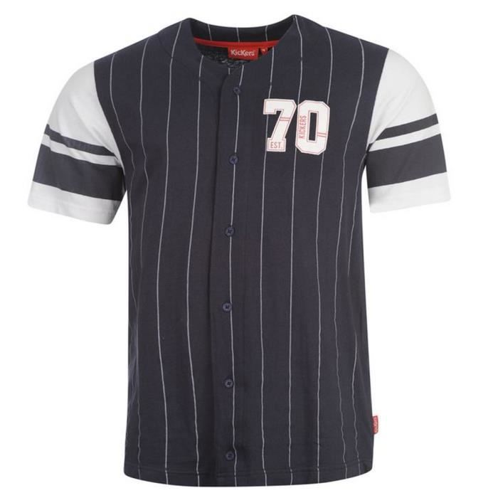 chemise de baseball homme kickers achat vente chemise chemisette chemise de baseball homme. Black Bedroom Furniture Sets. Home Design Ideas