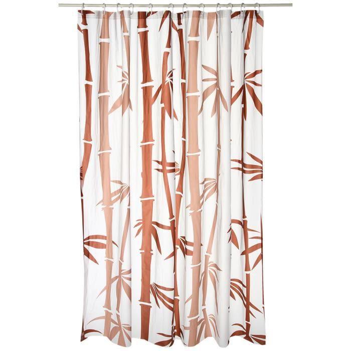 Rideau de douche imprim bambou achat vente rideau de douche cdiscount - Dimension rideau de douche ...