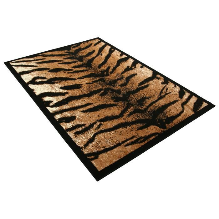 tapis salon peau de b te tigre rectangle universol achat vente tapis cdiscount. Black Bedroom Furniture Sets. Home Design Ideas