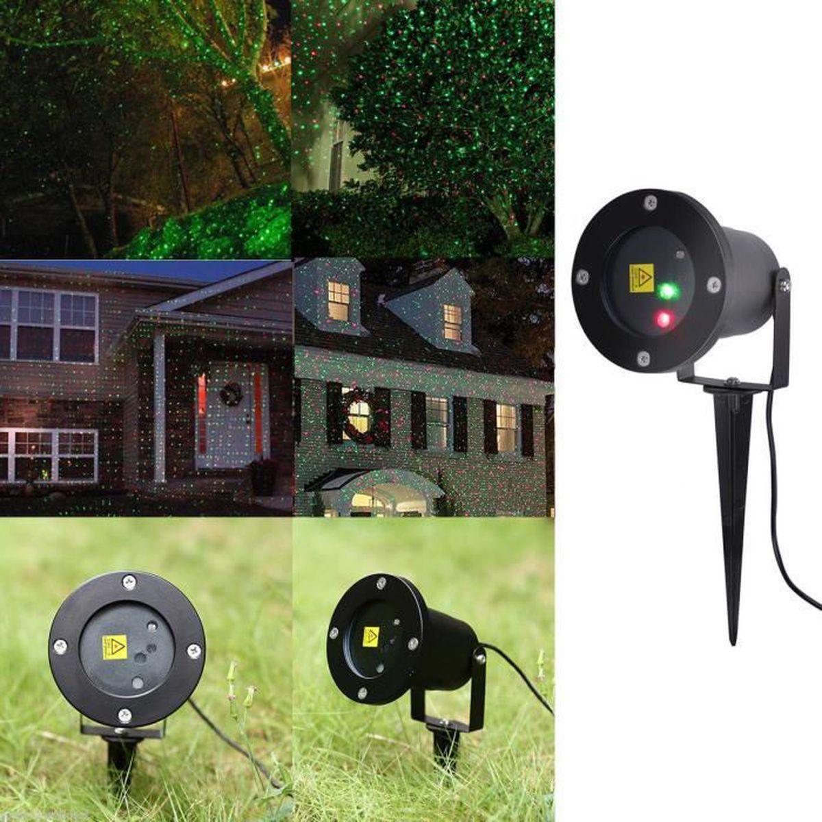 2x projecteur ext rieur lumim re de jardin avec t l commande lampe d corative de no l avec. Black Bedroom Furniture Sets. Home Design Ideas