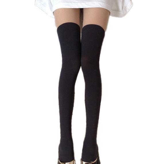 joli collant bicolore chaussettes montantes ecolie noir achat vente collant 2009943032343. Black Bedroom Furniture Sets. Home Design Ideas