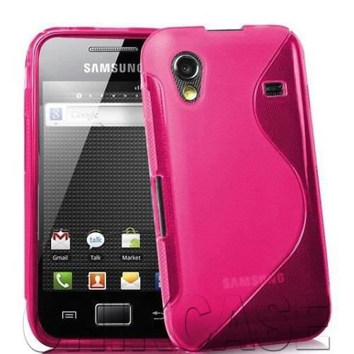coque silicone samsung galaxy ace s5839i rose achat. Black Bedroom Furniture Sets. Home Design Ideas