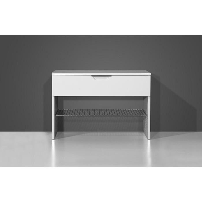 banc chaussures blanc avec 1 tiroir et 1 tag achat vente meuble chaussures banc. Black Bedroom Furniture Sets. Home Design Ideas