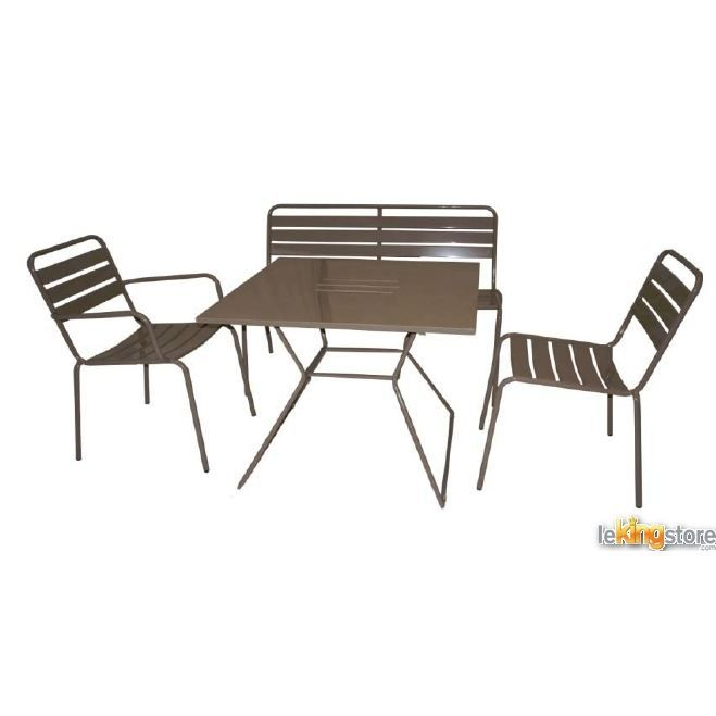 Chaise empilable nomade coloris taupe achat vente for Chaise nomade