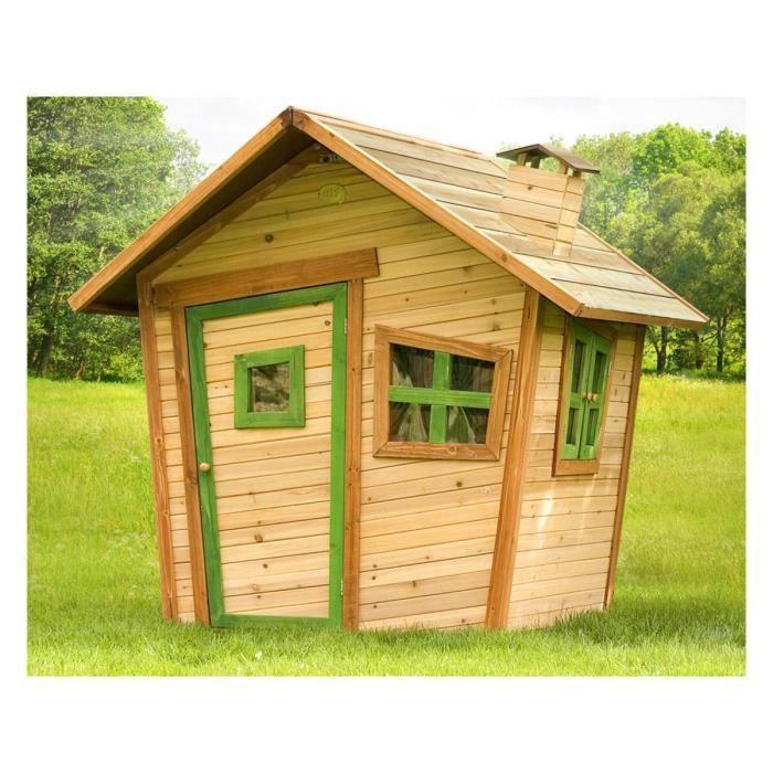 Cabane enfant bois alice x x m achat - Cabane en bois enfant castorama ...