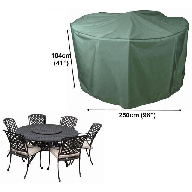 housse pour salon de jardin rond 8 places confort 250cm. Black Bedroom Furniture Sets. Home Design Ideas