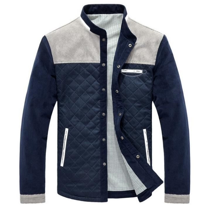 blouson homme printemps de homme veste slim ble bleu. Black Bedroom Furniture Sets. Home Design Ideas