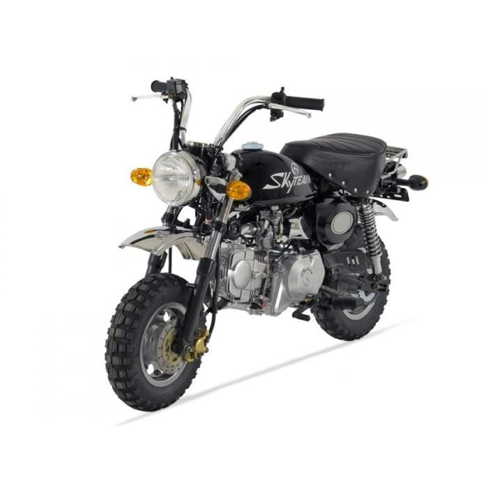 moto monkey 125 skyteam noir homologu achat vente. Black Bedroom Furniture Sets. Home Design Ideas
