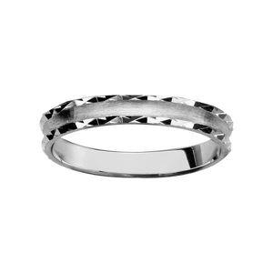 BAGUE - ANNEAU Bague Alliance Argent 925 Diamanté Satiné Mate et