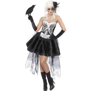 DÉGUISEMENT - PANOPLIE Costume squelette burlesque pour femme.