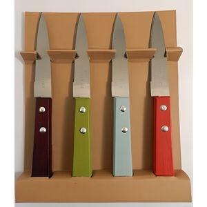 COUTEAU DE CUISINE  Coffret 4 couteaux d'office manches colorés Pradel