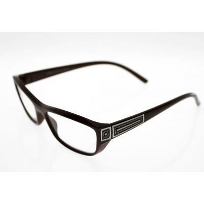 lunettes pre montees loupe avec etui souple er4 marron achat vente lunettes de lecture. Black Bedroom Furniture Sets. Home Design Ideas