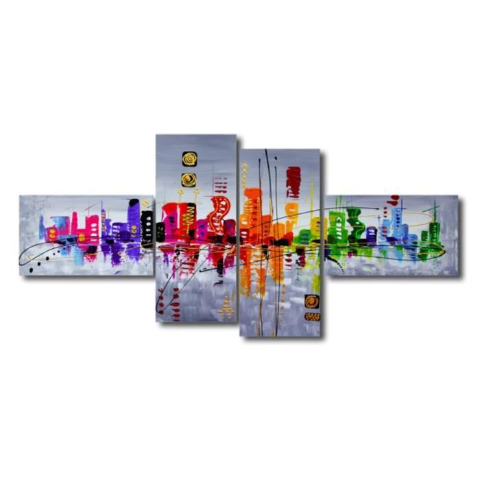 Tableau moderne imprim abstrait 160x70cm achat for Tableau imprime sur verre