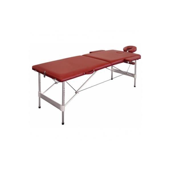 Table de massage pliante alu 2 zones rouge achat vente table de massage t - Achat table de massage pliante ...