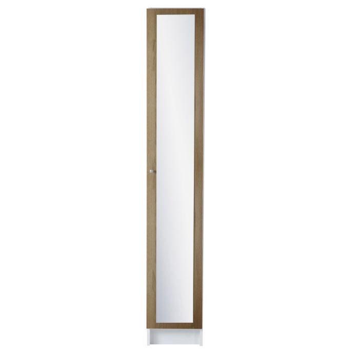 Meuble colonne slash robinier l29 5 cm achat vente - Colonne rangement plastique ...
