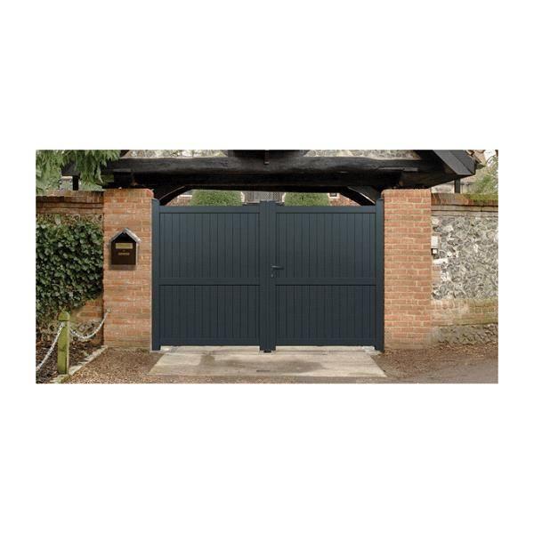 Portail aluminium menton couleur gris ral 7016 satin - Portail alu soldes ...