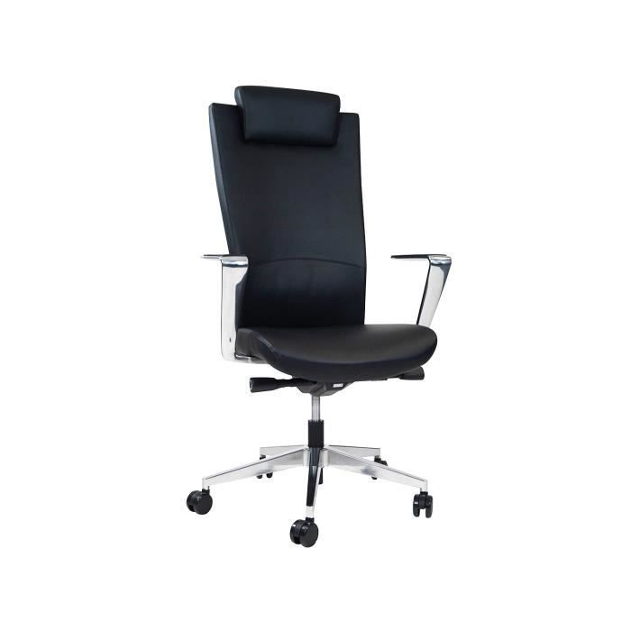 livinxs officeline fauteuil de bureau kopenhagen colori noir 66344 achat vente chaise de. Black Bedroom Furniture Sets. Home Design Ideas