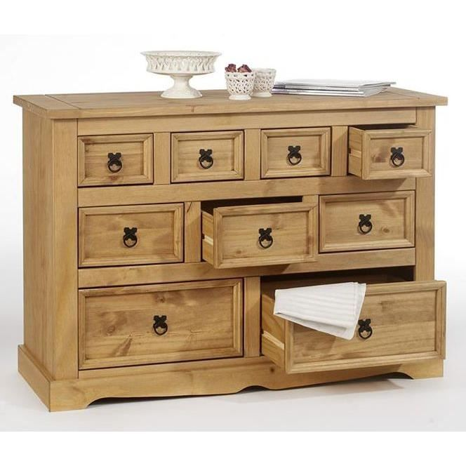 Commode apothicaire 4 3 2 tiroirs en pin tequila for Meuble 70x40
