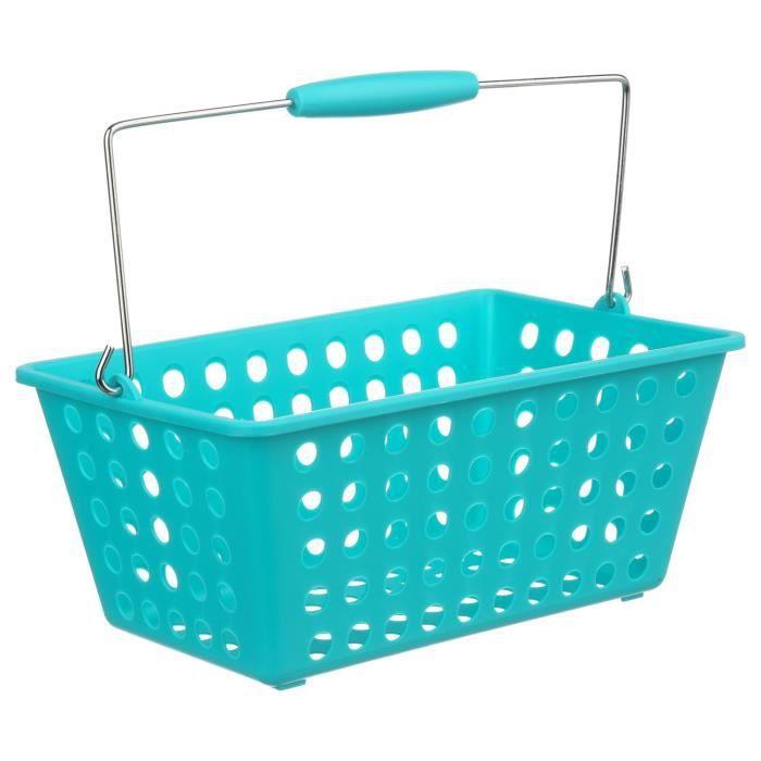 panier de salle de bain turquoise achat vente panier a linge panier de salle de bain t. Black Bedroom Furniture Sets. Home Design Ideas