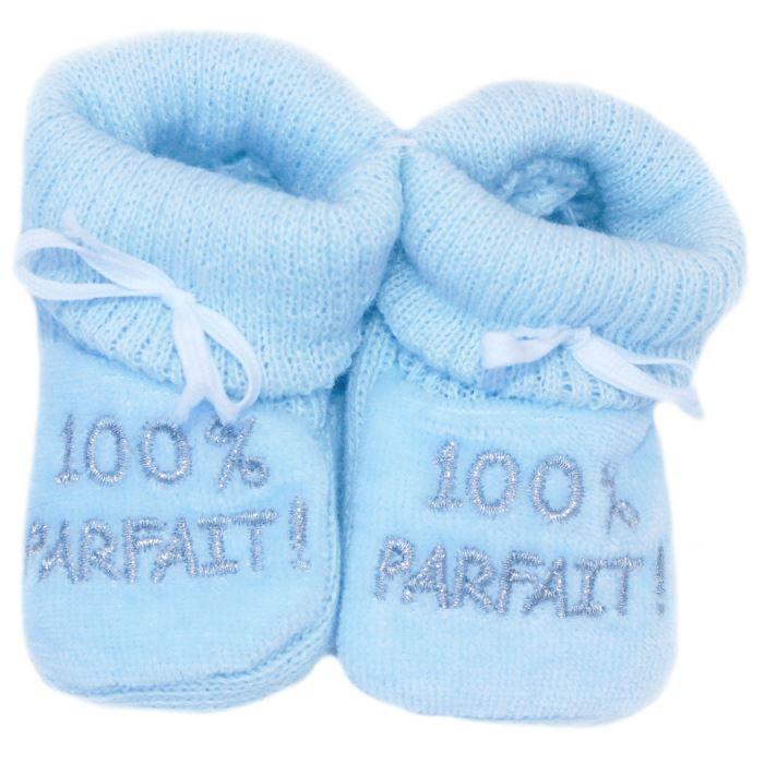 Chaussons b b brod s 100 parf bleu argent achat vente chausson pantoufle cdiscount - Bebe gar kamer model ...