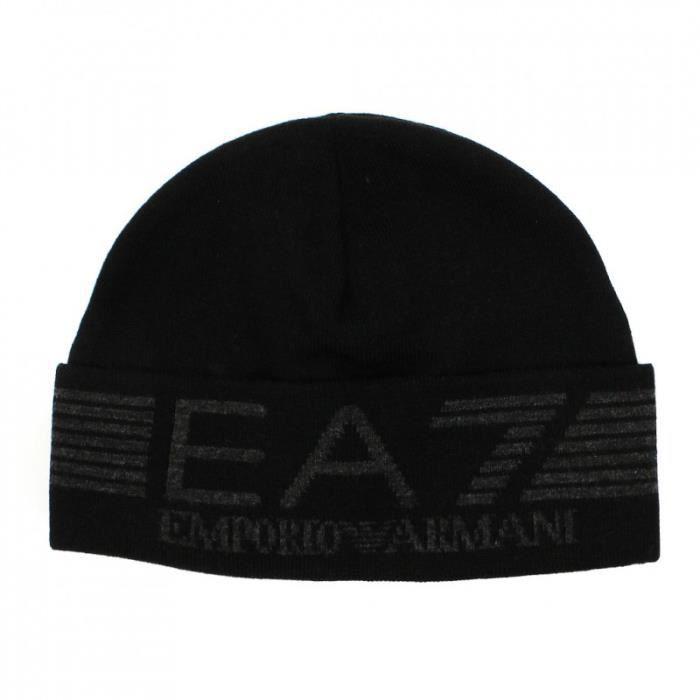 bonnet emporio armani homme noir achat vente bonnet cagoule cdiscount. Black Bedroom Furniture Sets. Home Design Ideas