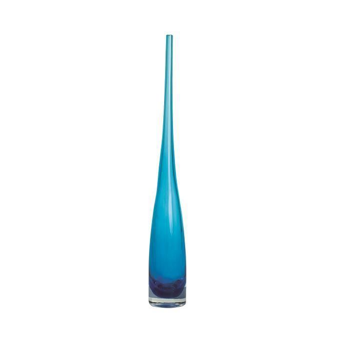 gallery vase 60 cm verre clair bleu clair salt achat vente vase soliflore verre cdiscount. Black Bedroom Furniture Sets. Home Design Ideas