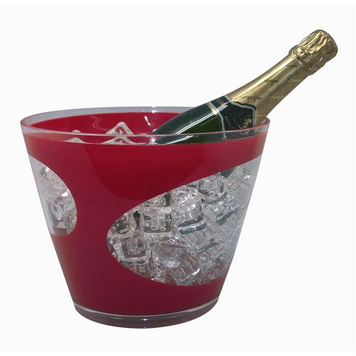 seau a champagne city rouge achat vente seau rafraichisseur cdiscount. Black Bedroom Furniture Sets. Home Design Ideas