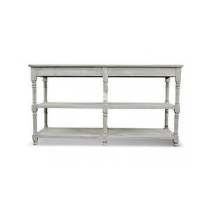 meuble console drapier bois ceruse blanc 162x54x87cm achat vente console meuble console. Black Bedroom Furniture Sets. Home Design Ideas