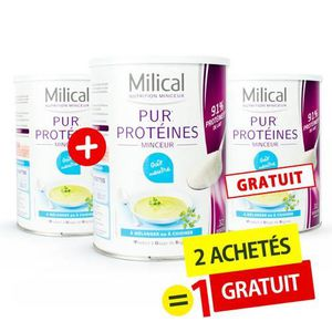 DESSERT MINCEUR MILICAL - 2 +1 Gratuite - Pur protéine goût neutre