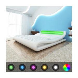 lit a led avec matelas inclus achat vente lit a led avec matelas inclus pas cher cdiscount. Black Bedroom Furniture Sets. Home Design Ideas