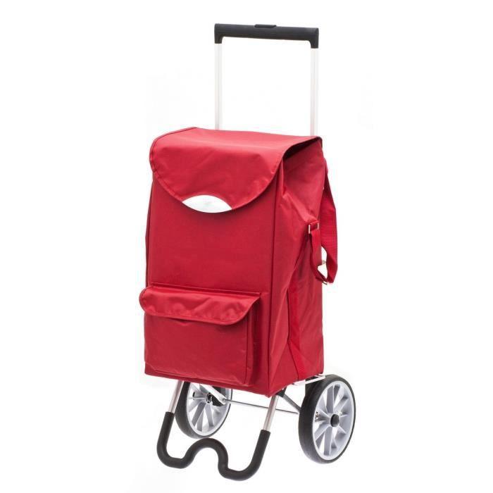 chariot de courses roulettes secc stockolm red achat vente poussette de marche. Black Bedroom Furniture Sets. Home Design Ideas