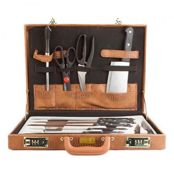 mallette couteaux de cuisine 13 pi ces achat vente. Black Bedroom Furniture Sets. Home Design Ideas