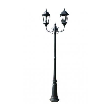 Lampadaire ext rieur double 230 cm achat vente lampadaire ext rieur double fonte Lampadaire interieur