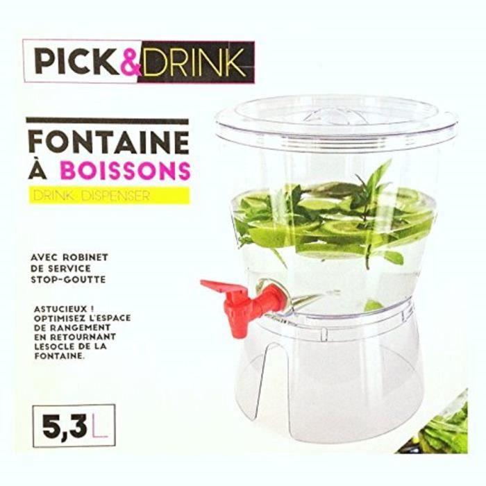 fontaine a boisson 5 3 l distributeur avec robinet 31 x 23. Black Bedroom Furniture Sets. Home Design Ideas