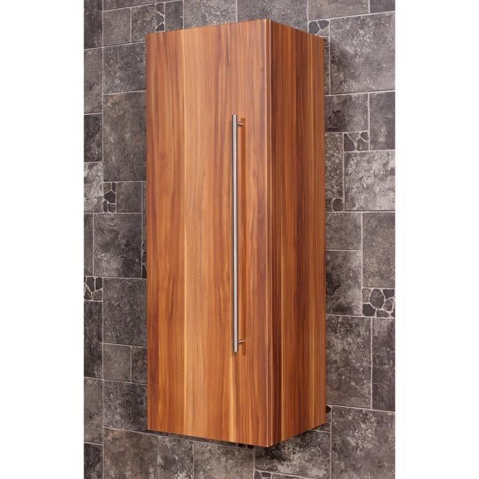 armoire haute 100 cm noix aspect affin achat vente. Black Bedroom Furniture Sets. Home Design Ideas