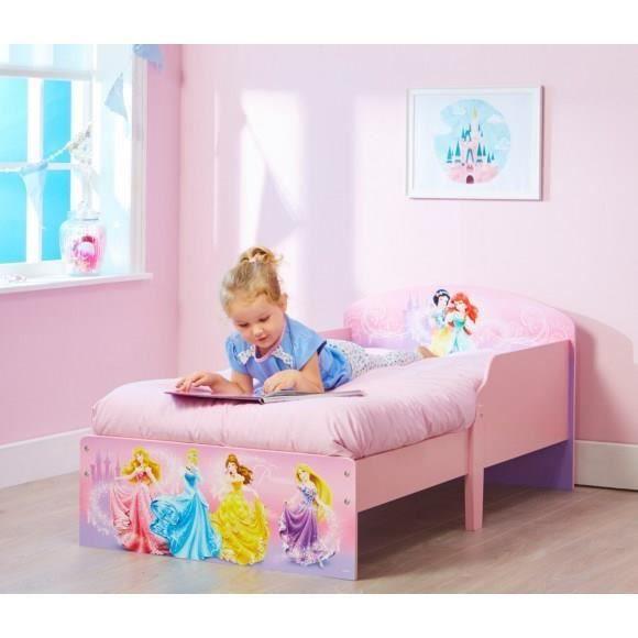 disney princesses lit enfant en bois hello home achat vente structure de lit cdiscount. Black Bedroom Furniture Sets. Home Design Ideas
