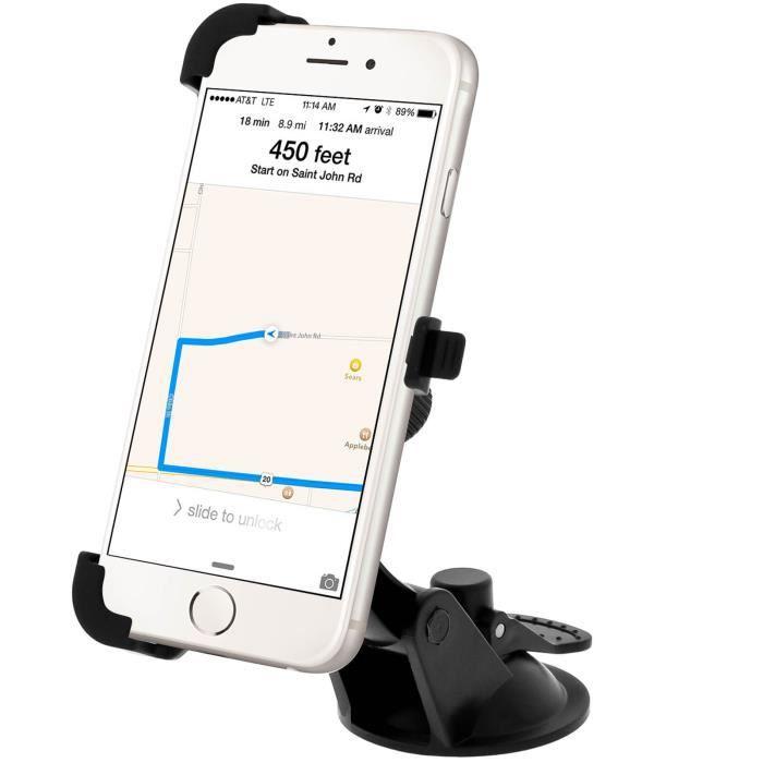 support voiture pare brise apple iphone 6 achat fixation support pas cher avis et meilleur. Black Bedroom Furniture Sets. Home Design Ideas
