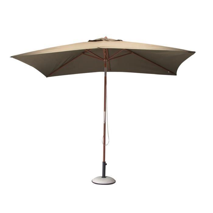 parasol bois 3x2 m couleur taupe achat vente. Black Bedroom Furniture Sets. Home Design Ideas