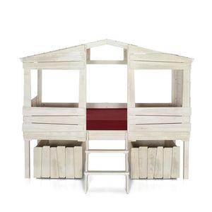 lit cabane 90 achat vente lit cabane 90 pas cher cdiscount. Black Bedroom Furniture Sets. Home Design Ideas