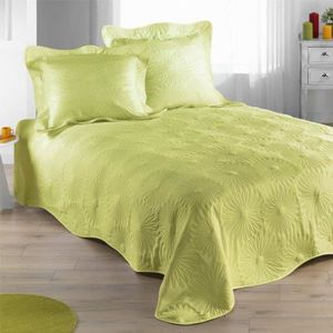 couvre lit vert anis achat vente couvre lit vert anis pas cher les soldes sur cdiscount. Black Bedroom Furniture Sets. Home Design Ideas