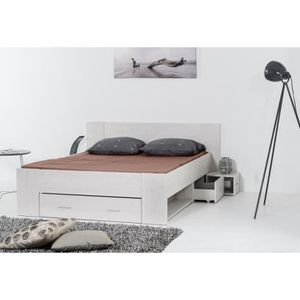 lit adulte 140x190 avec rangement achat vente lit. Black Bedroom Furniture Sets. Home Design Ideas