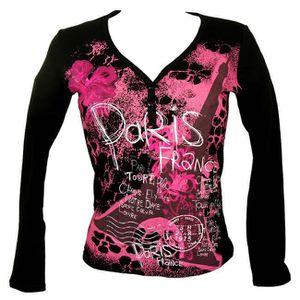 T-SHIRT T-Shirt Femme Paris Manches Longues
