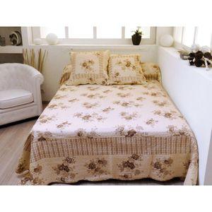 couvre lit boutis ecru achat vente couvre lit boutis ecru pas cher cdiscount. Black Bedroom Furniture Sets. Home Design Ideas