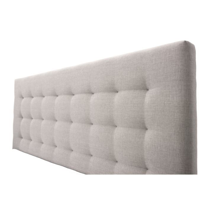 t tes de lit alitea deco azur 2x100x200 taupe achat vente t te de lit t tes de lit alitea. Black Bedroom Furniture Sets. Home Design Ideas