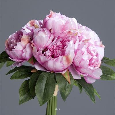 Bouquet de pivoines artificielles lavande 7 tet achat vente fleur artifi - Bouquet fleurs artificielles ...