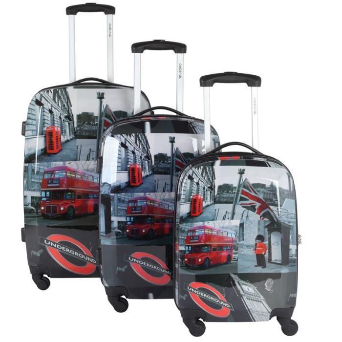 set de 3 valises murano london achat vente set de valises set de 3 valises murano london. Black Bedroom Furniture Sets. Home Design Ideas